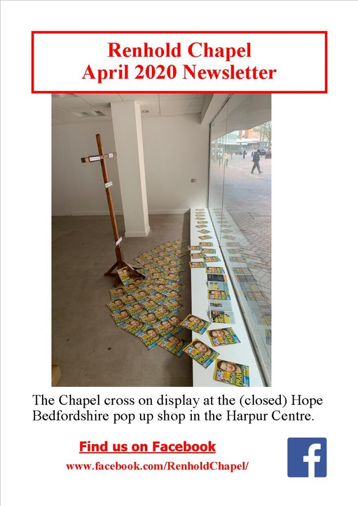 Renhold Chapel April 2020 Newsletter